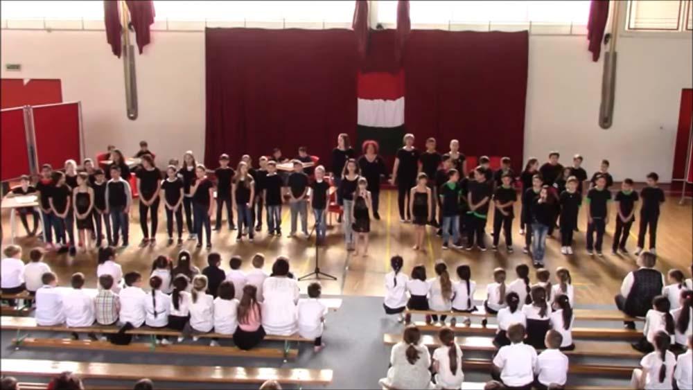 Március 15-i ünnepség a Meszesi Általános Iskolában